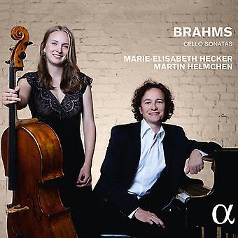 Brahms / Hecker, Marie-Elisabeth / Helmchen, Martin - Brahms: sonates violoncelle [CD] USA import