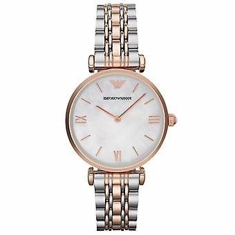 Emporio Armani AR1683 Classic Mother of Pearl Dial Dames Horloge