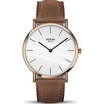 VOTUM - Reloj Unisex - SLICE - Pure - V04.20.10.04 - correa de cuero - marrón claro