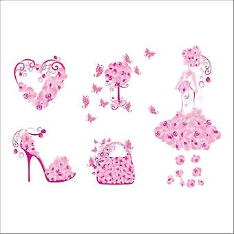 Elegant Flower Bag/shoes/butterflies Pvc Wall Stickers, Removeable Decals