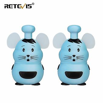 Retevis RT30M Mini Toy Walkie Talkie 2 stuks Cute Mouse Style FPS/PMR 446MHz Kids Two-way Radio Christ