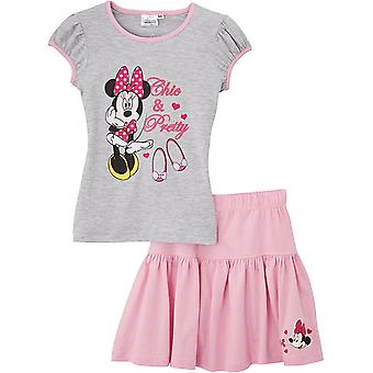 Ragazze Disney Minnie Mouse estate t-shirt & Gonna Set