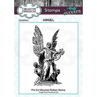 Creative Expressions Andy Skinner Angel Rubber Stamp 3.6 in x 1.8 in