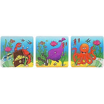 HydroKidz Sealife JIgsaw Puzzle Set - 3 Fun Designs