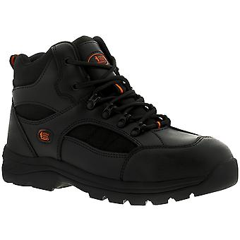 Tradesafe David Mens Leather Safety Boots Black UK Size