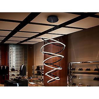 Schuller Ring - Integrert LED anheng lys, sandblåst svart