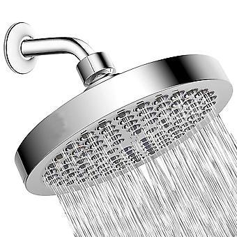 Shower Head, High Pressure Chrome Face Showerhead, Tool-Free Installation 6 Inch