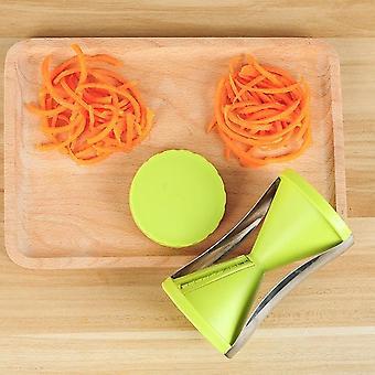 rustfritt stål- håndholdt bærbar spiralizer, vegetabilsk peeler spiral slicer