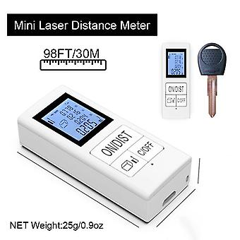 Mini digital laser distance meter rechargeable measure 98 ft/30m home use measurement tool 0.03-35m rangefinder