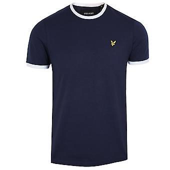 Lyle & scott men's navy ringer t-shirt
