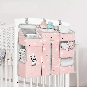 Arrangør for baby krybbe hængende opbevaringspose