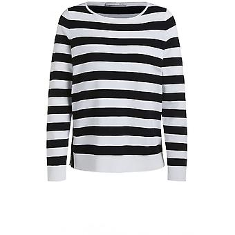 Oui Black & White Stripe Jumper