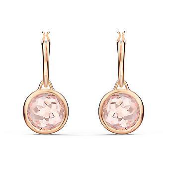 סברובסקי טליה מיני חישוק עגילים מנוקבים - ורוד - ורד-זהב טון מצופה