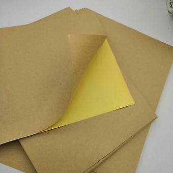 20 Sheets/package A4 Matte Kraft Paper For Laser Inkjet Printers Self-adhesive