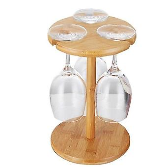 Modern contemporary design style wooden wine bottle and glass rack