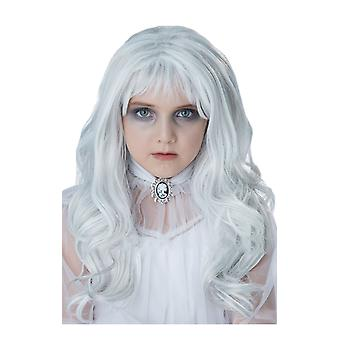 Girls White Grey Ghost Wig Costume Accessory
