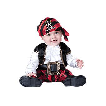 Boys Baby Toddler Cap 'n' Stinker Pirate Halloween Fancy Dress Costume