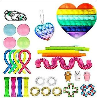 29pcs pakke sensorisk leketøy sett antistress relief fidget leker