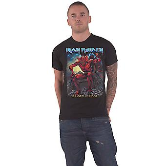 Iron Maiden T Shirt Legacy of the Beast Devil Band Logo nieuwe Officiële Mens Black