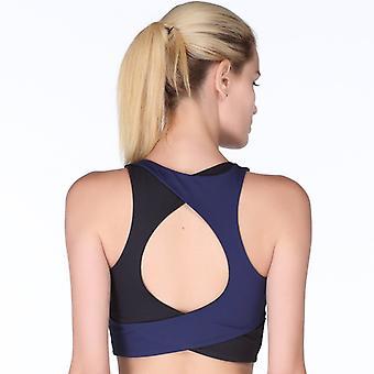 SPORX Women's Sports Bra Double Colour Black/Blue