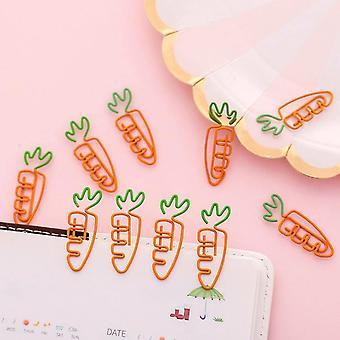 Kawaii Porkkana Muoto Koulu Toimisto Supply Paper Clip