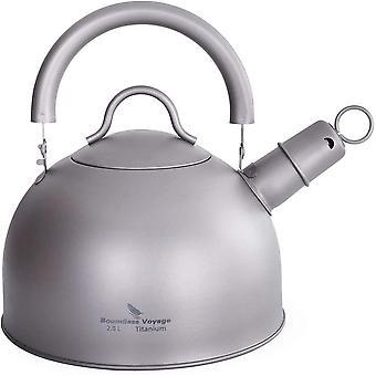 HanFei Titan Pfeifender Teekessel für Gasherd Ultraleichter Wasserkrug Teekanne mit großer Kapazität