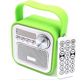 FengChun Küchenradio Badradio Grün Mini Bluetooth Lautsprecher mit Radio FM Fernbedienung Dusche