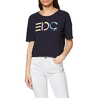 edc av Esprit 020CC1K313 T-Shirt, 400/Navy, S Woman