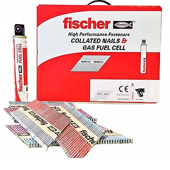 Fischer 51 x 2.8 Ring Stainless Steel Nails With Gas Qty 1100