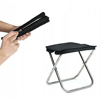 Hsla Outdoor Stainless Steel Folding Stool For Camping And Fishing