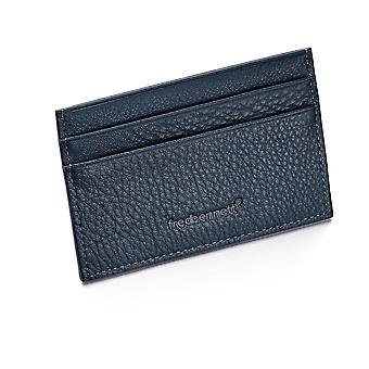 Fred Bennett Navy Blue Leather Mens Korthållare Plånbok och Presentförpackning