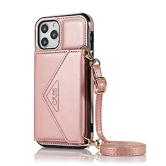 Leather wallet case for iphone 11 rose gold pns-2984