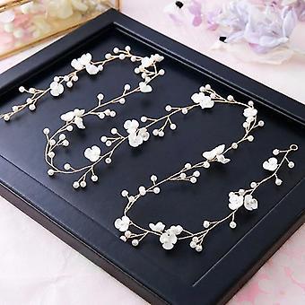 Moda noiva casamento cristalina acessórios cabelo pérola flor noiva noiva