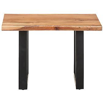 vidaXL sohvapöytä puun reunoilla 60x60x40 cm massiivipuu akaasia
