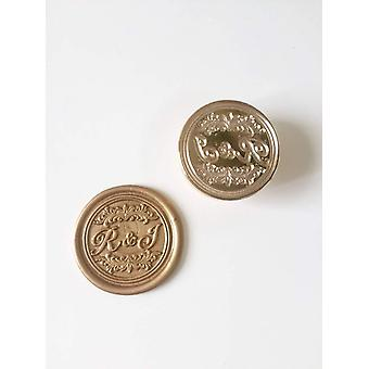 Wedding Wax Seal Stamp With Name And Date
