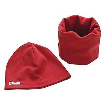 الاطفال Neckerchief القطن الدافئ قبعة وشاح قطعتين مجموعة