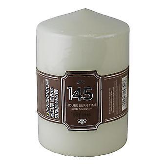Bougie pilier crème, temps de combustion de 145 heures