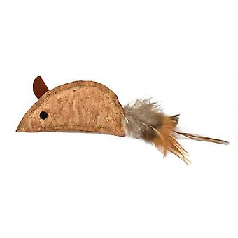 Nayeco Cork Mouse With Feather (Cats , Toys , Mice)