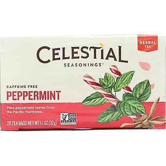 Celestial Seasonings Tea Herb Peppermint, Case of 6 X 20 Bags
