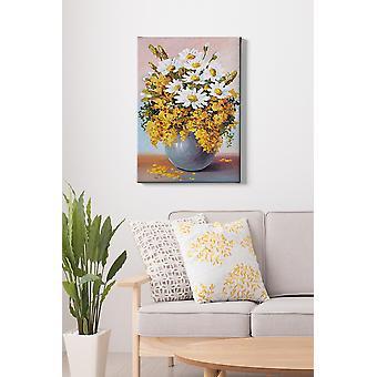 Kanvas Tablo (50 x 70) - 124 flerfärgade dekorativa dukmålning