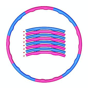 Weighted foldable hula hoop fitness mat exercise gym exercise hula hoop,pink and grey