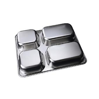 Deepen Thick Stainless Steel Plate With 4 Compartments