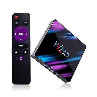 Multifunkčné streamovanie domácich mediálnych prehrávačov h96 max smart android 10.0 tv box rk3318 štvorjadrový 64 bit uhd 4k vp9 h.265 4gb / 64gb
