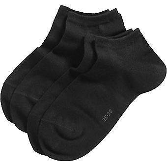 Esprit Sneaker clássico 2 Pack meias - preto