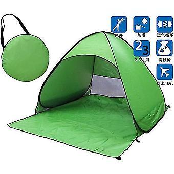 المحمولة التلقائية المنبثقة شاطئ مظلة الشمس الأشعة فوق البنفسجية الظل المأوى في الهواء الطلق خيمة التخييم في الهواء الطلق (الأخضر)