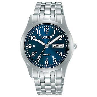 Lorus Classic 38 mm Quarz Blau Zifferblatt RXN77DX9 Uhr