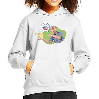 Blippi Hey I Already Saw You At The Farm Kid's Hooded Sweatshirt