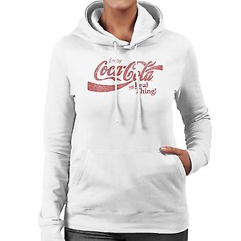 Coca Cola Den ægte vare sweatshirt med hætter til kvinder