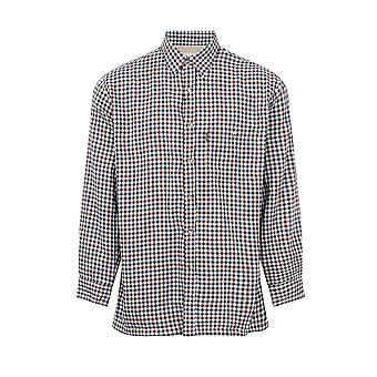 Mester Mens Heathfield Country Fleece Foret Langermet skjorte - Grønn - 3XL