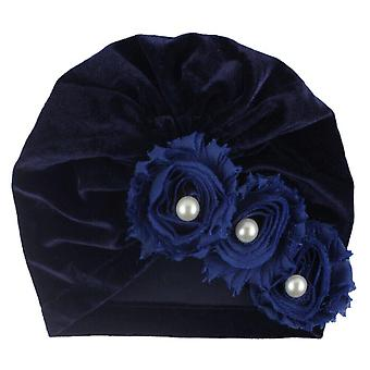 Lasten hattu helmi kukka kiinteä pehmeä lippis
